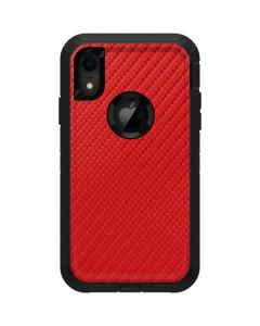 Red Carbon Fiber Otterbox Defender iPhone Skin