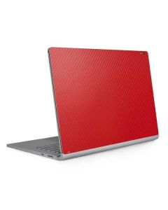 Red Carbon Fiber Surface Book 2 13.5in Skin
