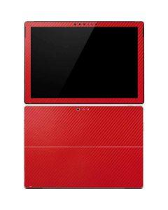 Red Carbon Fiber Surface Pro 4 Skin
