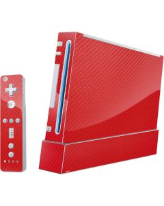 Red Carbon Fiber Wii (Includes 1 Controller) Skin