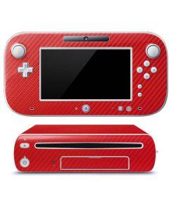 Red Carbon Fiber Wii U (Console + 1 Controller) Skin
