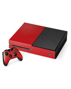 Red Carbon Fiber Xbox One Console and Controller Bundle Skin