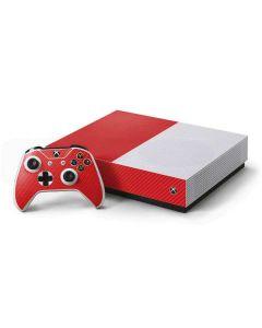 Red Carbon Fiber Xbox One S All-Digital Edition Bundle Skin