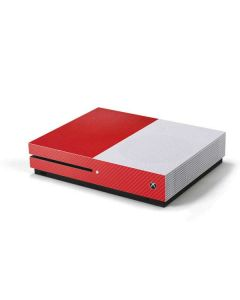 Red Carbon Fiber Xbox One S Console Skin