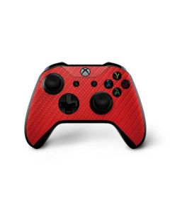 Red Carbon Fiber Xbox One X Controller Skin