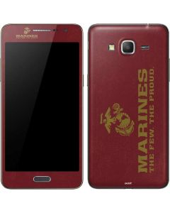 Red Faded Marines Galaxy Grand Prime Skin