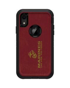 Red Faded Marines Otterbox Defender iPhone Skin