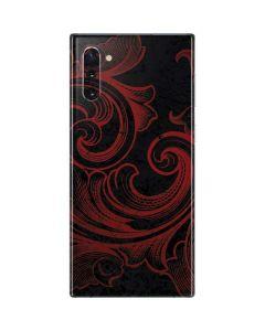 Red Flourish Galaxy Note 10 Skin