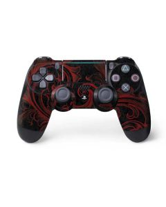 Red Flourish PS4 Pro/Slim Controller Skin