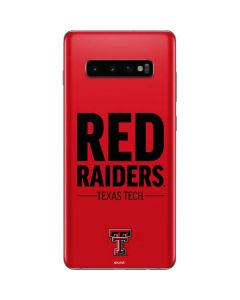 Red Raiders Galaxy S10 Plus Skin