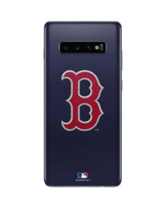 Red Sox Embroidery Galaxy S10 Plus Skin