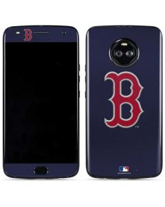 Red Sox Embroidery Moto X4 Skin