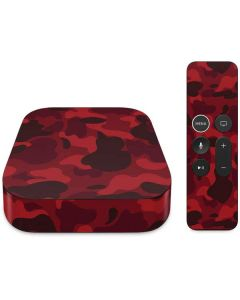 Red Street Camo Apple TV Skin
