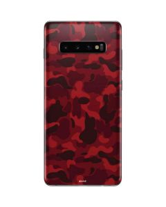 Red Street Camo Galaxy S10 Plus Skin