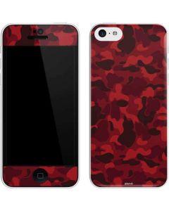 Red Street Camo iPhone 5c Skin