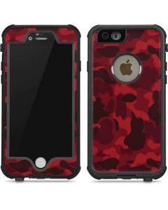 Red Street Camo iPhone 6/6s Waterproof Case
