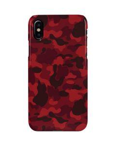 Red Street Camo iPhone XS Max Lite Case