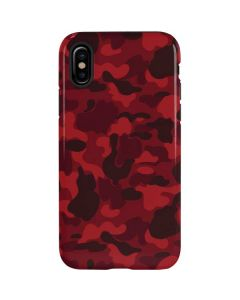 Red Street Camo iPhone XS Max Pro Case