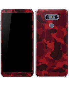 Red Street Camo LG G6 Skin