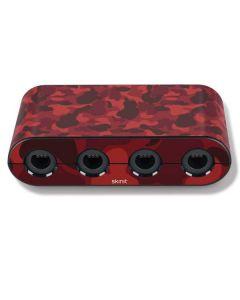 Red Street Camo Nintendo GameCube Controller Adapter Skin