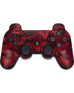 Red Street Camo PS3 Dual Shock wireless controller Skin