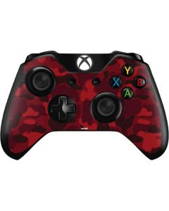 Red Street Camo Xbox One Controller Skin