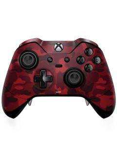 Red Street Camo Xbox One Elite Controller Skin