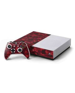 Red Street Camo Xbox One S Console and Controller Bundle Skin