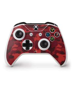 Red Street Camo Xbox One S Controller Skin