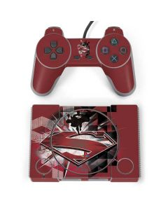 Red Superman Pattern PlayStation Classic Bundle Skin