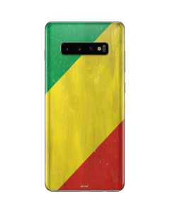 Republic of the Congo Flag Distressed Galaxy S10 Plus Skin