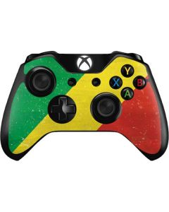 Republic of the Congo Flag Distressed Xbox One Controller Skin