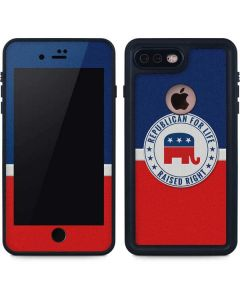Republican For Life iPhone 8 Plus Waterproof Case