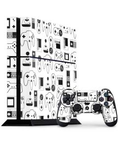 Retro Gaming Controllers PS4 Console and Controller Bundle Skin