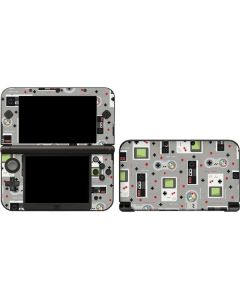 Retro Nintendo Pattern 3DS XL 2015 Skin