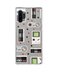 Retro Nintendo Pattern Galaxy Note 10 Plus Clear Case