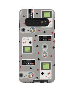 Retro Nintendo Pattern Galaxy S10 Pro Case