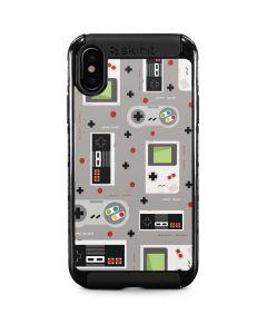 Retro Nintendo Pattern iPhone XS Max Cargo Case