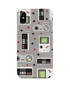 Retro Nintendo Pattern iPhone XS Max Lite Case