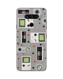 Retro Nintendo Pattern LG V40 ThinQ Skin