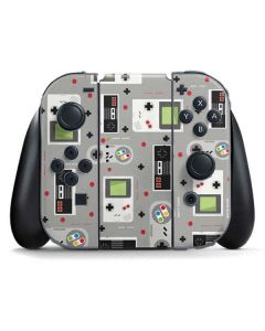 Retro Nintendo Pattern Nintendo Switch Joy Con Controller Skin