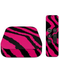 Retro Zebra Apple TV Skin