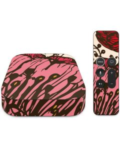 Rose Bud Floral Apple TV Skin
