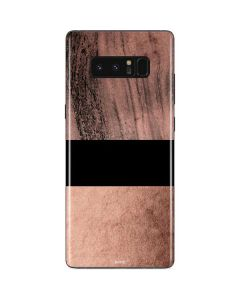 Rose Gold and Black Marble Galaxy Note 8 Skin