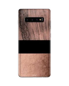 Rose Gold and Black Marble Galaxy S10 Plus Skin