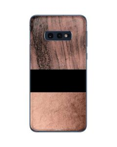 Rose Gold and Black Marble Galaxy S10e Skin