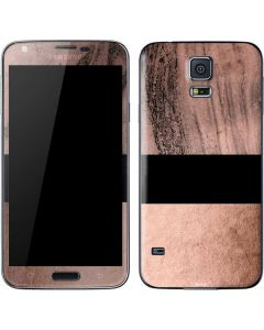 Rose Gold and Black Marble Galaxy S5 Skin