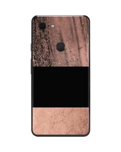 Rose Gold and Black Marble Google Pixel 3 XL Skin