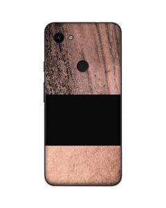 Rose Gold and Black Marble Google Pixel 3a Skin