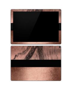 Rose Gold and Black Marble Google Pixel Slate Skin